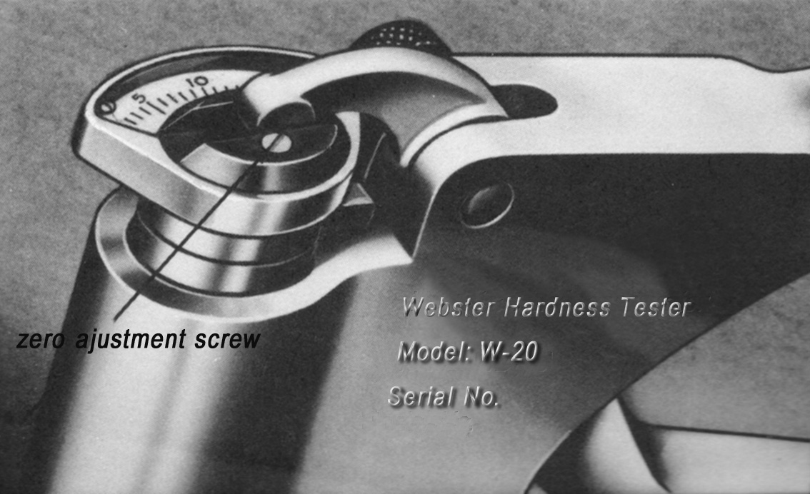 Daily Maintenance of Webster Hardness Tester